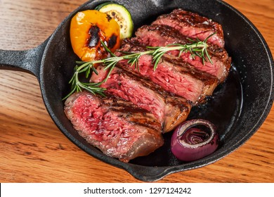 Thick slice grilled steak