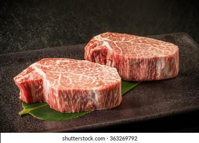 Thick slice Japanese beef marbled beef steak