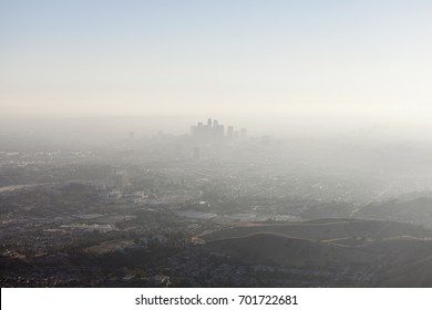 Thick summer smog smothering Los Angeles and Southern California.