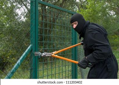 thief with scissors