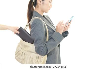 Thief steals a wallet