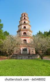 Thien Mu Pagoda, Hue, Central Vietnam. Unesco world heritage site.