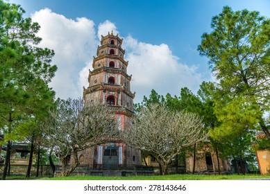 Thien Mu Pagoda. Unesco World Heritage Site. Hue. Vietnam.