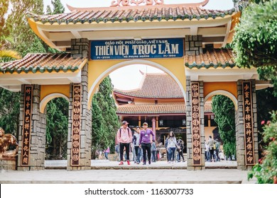 Thien Vien Truc Lam temple, Zen Monastery, The Meditation Center in Dalat, Vietnam. landmark and popular for tourist attractions. Dalat, Vietnam, 6 January 2017