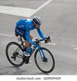 THIENE, ITALY - October 21 2020 - 17th stage of Giro d'Italia Bassano Del Grappa - Madonna di Campiglio