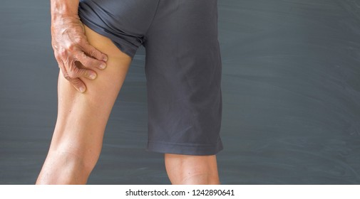 Thigh muscles in the thighs with injuries and aches that cause inflammation.
