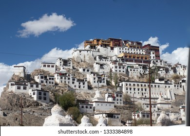 Thikse Monastery, the Tibetan temple located in Leh Ladakh