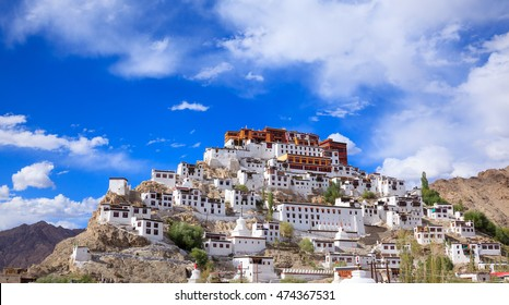 Thiksey Monastery or Thiksey Gompa, Leh Ladakh,  Jammu and Kashmir, India