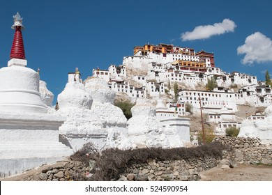Thiksey monastery. Leh ladakh in the autumn, Himalayas landscape.