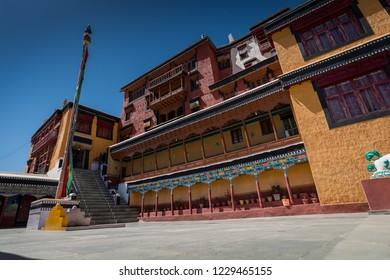 Thiksey temple monastery  in Leh-Ladakh, India