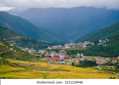 Thimphu landscape in fall season, Bhutan.