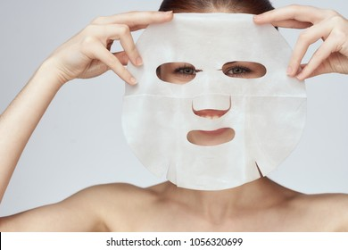 thin mask for the face, scrub, exfoliation