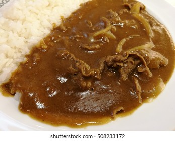 thin sliced boiled beef curry