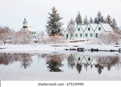 Thingvellir National Park or better known as Iceland pingvellir National Park during winter