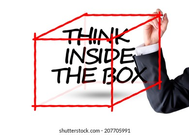 Think inside the box business concept