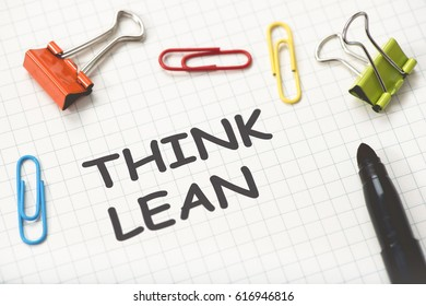 Think Lean Concept On Paper