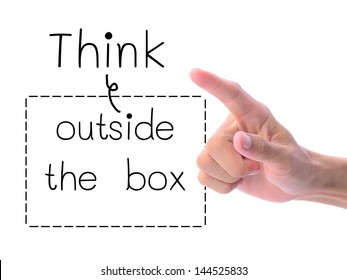 Think outside the box, thinking concept.