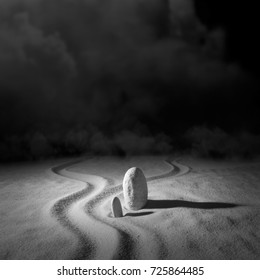 """""""Thinking about two Earth Pathes"""". """"Searching Philosopher Stone"""". Series of photo etudes. Artistic photography."""