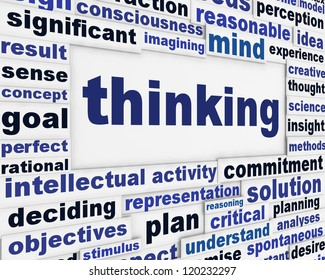 Thinking creative message background. Intelligence poster conceptual design