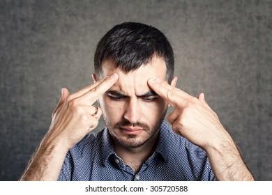 Thinking man isolated