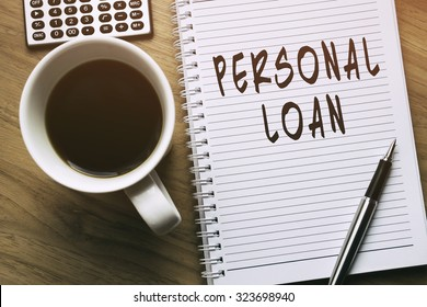Thinking on Personal Loan, personal finance conceptual