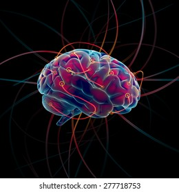 Thinking process of the brain concept