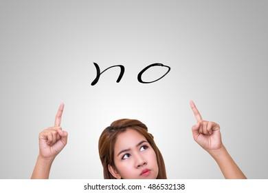 "Thinking woman choose ""NO"" answer."