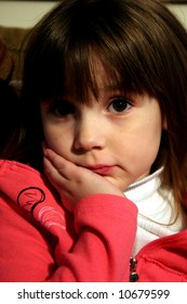 Thinking young girl