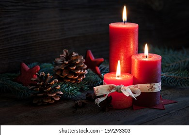 third advent with candles and decoration