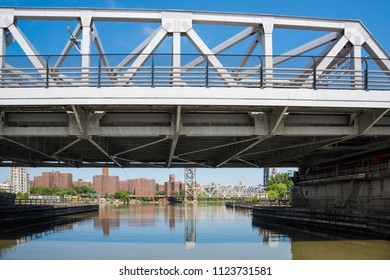 The third Avenue Bridge is a swing bridge and over the Harlem River connecting the boroughs of Manhattan and the Bronx in New York City. The bridge is one -way Manhattan bound traffic from the Bronx.