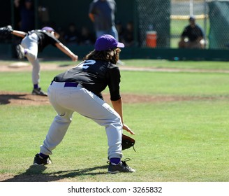 Third Baseman Ready As Pitch Delivered