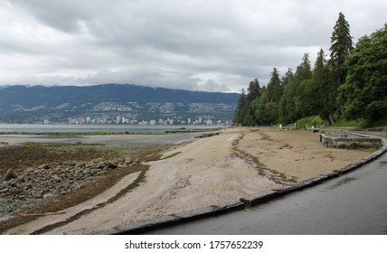 Third beach at Stanley Park, Vancouver, empty during Covid19