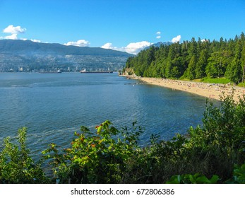 Third Beach in stanley park vancouver, canada