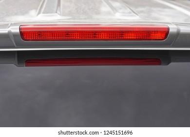 Third brake red light at vehicle rear end