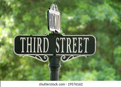 third street sign at intersection