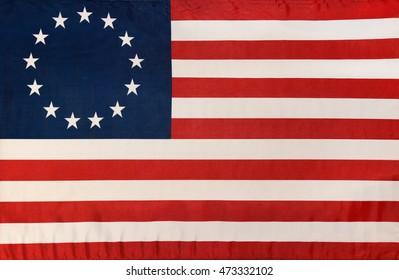 thirteen star Betsy Ross flag