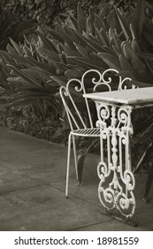 thirties patio in tropics