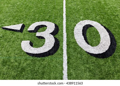 Thirty yard line detail