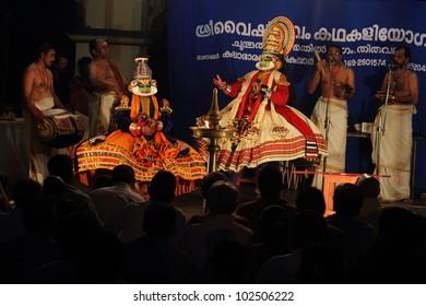 THIRUVALLA, INDIA -MAY 13: Famous Kathakali artist Kalamandalam Gopi perform live on stage during a week long Kathakali festival at Sri Vallabha temple on May 13, 2012 in Thiruvalla, Kerala, India.