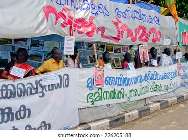 THIRUVANANTHAPURAM, INDIA 16 OCT: Protest in support urban indigenous people and migration in Thiruvananthapuram, Kerala, India on 16 Oct, 2014
