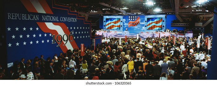 This is the 1996 Republican National Convention that took place at the San Diego Convention Center. Senator Bob Dole and Jack Kemp were seeking the nomination.