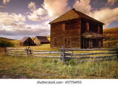 This abandoned farmstead on Last Dollar Road near the Dallas Divide in the San Juan Mountains of Southwest Colorado portrays living in the Old West.