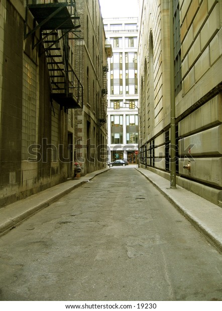 This is an alley in old montreal
