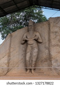 This ancient statue at Polonnaruwa, Shri Lanka, is believed to represent a sage or a king.