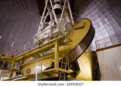 This is The Anglo-Australian Telescope in New South Wales. It is Australia's largest optical telescope. It was also the last large telescope to use an equatorial mount.