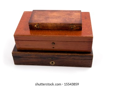 This is antique Wood Box Isolated on white