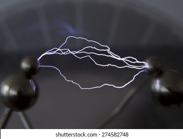 This artificially created by an electrical discharge in the air.