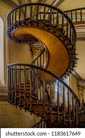 This Beautiful Circular Staircase Loretto Chapel Stock Photo Edit Now 1183617649