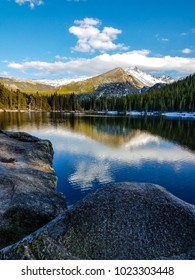 This is beautiful and serene Bear Lake in the Rocky Mountain National Park in Colorado.