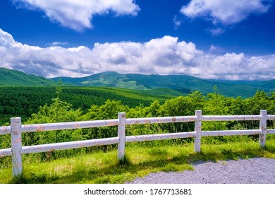 This is the beautiful summer landscape of Tateshina highland in Nagano prefecture, Japan.